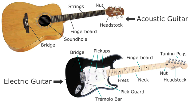 guitar strings layout. The Electric Guitar